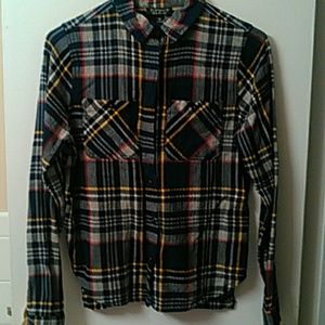 Top Shop flannel Plaid shirt